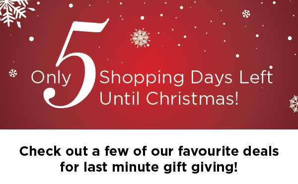 only 5 shopping days left until christmas kitchen stuff plus